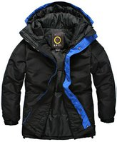South Play Mens Coloration Duck Down Padding Hood Jumper Jacket Overcoat