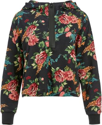 Quinlan Floral Cropped Hoodie