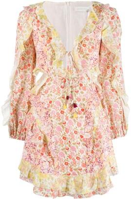 Zimmermann Goldie Floral mini dress