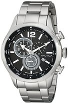 Nautica Men's NAD16509G NCS 18 Analog Display Japanese Quartz Silver Watch