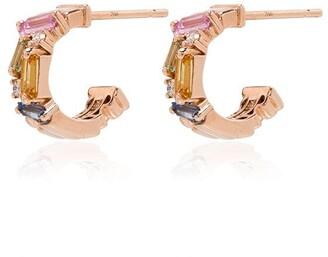 Suzanne Kalan 18kt Rose Gold Sapphire Earrings