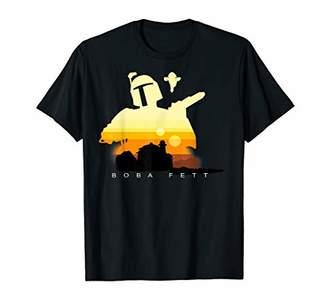 Star Wars Boba Fett Tatooine Sunset Silhouette Graphic Tee