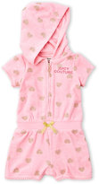 juicy couture (Newborn/Infant Girls) Terry Heart Romper