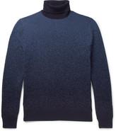 Ermenegildo Zegna Dégradé Cashmere Rollneck Sweater - Blue