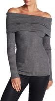 Line & Dot Lea Off-the-Shoulder Long Sleeve Shirt