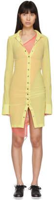 Supriya Lele Yellow Silk Shirt Dress