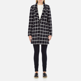 Maison Scotch Women's Bonded Wool Coat In Checks & Solids Multi