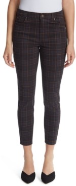 Ella Moss High-Rise Plaid Ankle Skinny Jeans