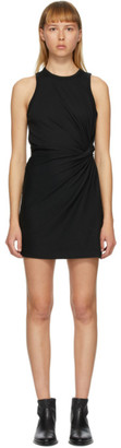 Alexander Wang Black Jersey Fitted Twist Short Dress