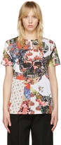 Alexander McQueen White Floral Skull Classic T-shirt