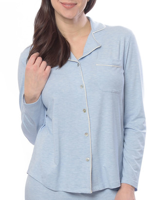Lusomé Donna Heathered Jersey Pajama Shirt