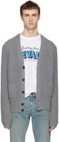 DSQUARED2 Grey Waffle Knit Cardigan