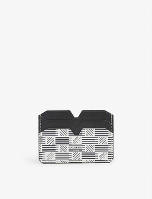 Moreau Paris Logo-print leather card holder