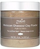 Heal's Moroccan Ghassoul Clay Mask - Organic Natural Facial Mask and Skin Care Treatment - Anti-aging Mud Mask Heals Dry & Oily Skin, Acne, Eczema & Psoriasis - 8 Oz