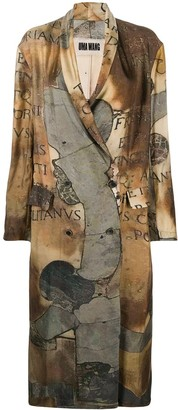 UMA WANG Graphic Print Trench Coat