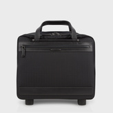 Paul Smith Black 'Jacquard Rabbit' Small Trolley Suitcase