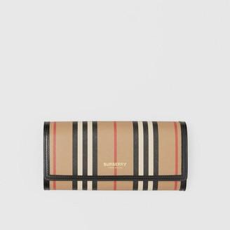 Burberry Icon Stripe E-canvas Continental Wallet