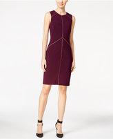 Calvin Klein Zipper-Seam Sheath Dress