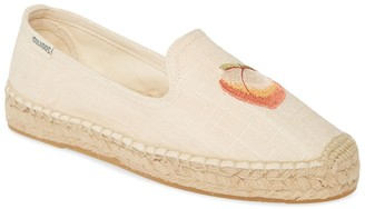 Soludos Peach Bum Embroidered Espadrille