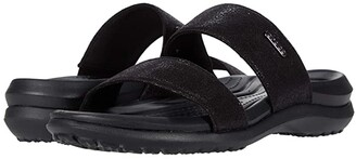 Crocs Capri Dual Strap Sandal (Black) Women's Sandals