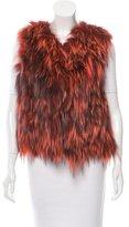 Oscar de la Renta Fur Open Front Vest w/ Tags