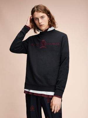 Tommy Hilfiger Crest Logo Cotton Sweatshirt