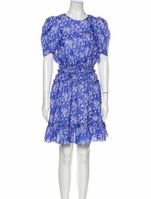 Kenzo Floral Print Knee-Length Dress w/ Tags Blue