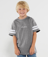 Princess Linens Heather Gray Personalized Football Tee - Toddler & Boys