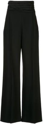 KHAITE Blaine high waisted tuxedo style trousers