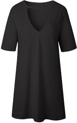 Goodnight Macaroon 'Bee' Deep V-Neck Short Sleeved T-Shirt