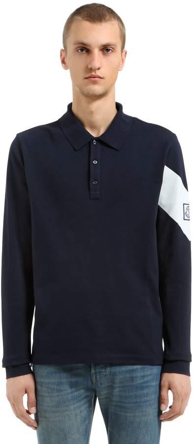 Moncler Gamme Bleu Cotton Pique Polo Shirt