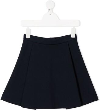 Señorita Lemoniez Lee pleat detail skirt
