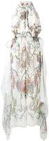 Fendi Blazon dress - women - Silk/Viscose/Cotton - 40