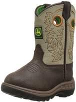 John Deere Kids' Jd1417-1 Western Boot