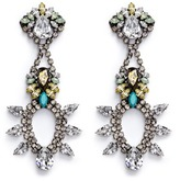 Anton Heunis Swarovski crystal chandelier earrings
