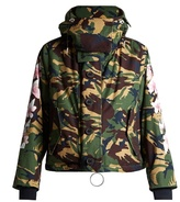 Off-White High-neck camouflage-print jacket