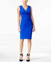 Betsey Johnson V-Neck Ruched Sheath Dress