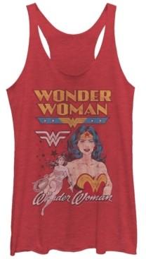 Fifth Sun Dc Wonder Woman Retro Logos Tri-Blend Women's Racerback Tank