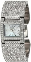 Badgley Mischka Women's Quartz Metal and Alloy Dress Watch, Color:Silver-Toned (Model: BA/1365MPSV)