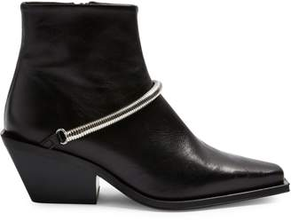 Topshop Mercy Western Chain Leather Boots
