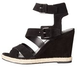 Marc Fisher Womens Karla Open Toe Casual Platform Sandals, Black, Size 8.5.