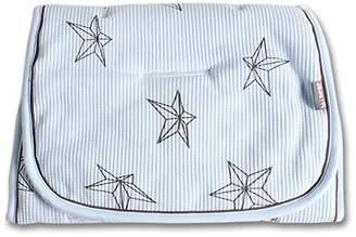 Minene Reversible Pushchair Liner, Light Blue with Stars
