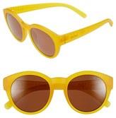 Zeal Optics Women's 49Mm Biodegradable Plant Based Round Sunglasses - Fleetwood Matte Black