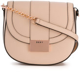 DKNY foldover buckle satchel