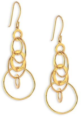Ippolita Classico Mini 18K Yellow Gold Hammered Jet Set Earrings