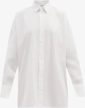 Balenciaga Oversized Cotton-poplin Shirt - White