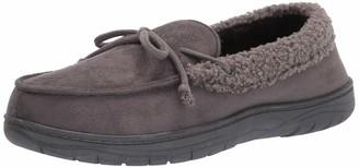 Hanes Men's Moccasin Slipper Shoe - Memory Foam with Indoor Outdoor Sole