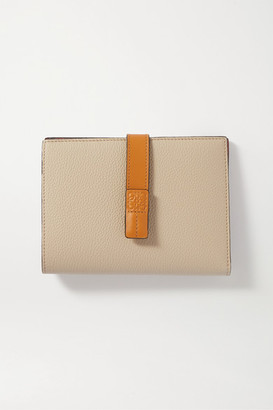 Loewe Vertical Small Textured-leather Wallet - Off-white