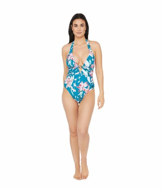 La Blanca Women's V-Front Keyhole Halter One Piece Swimsuit