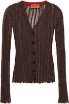 Missoni Metallic Ribbed Crochet-knit Cardigan